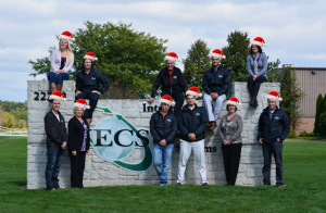 IECS Team with Santa Hat